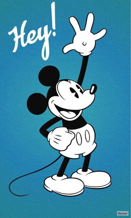 Mickey Mouse Blue wallpaper poster